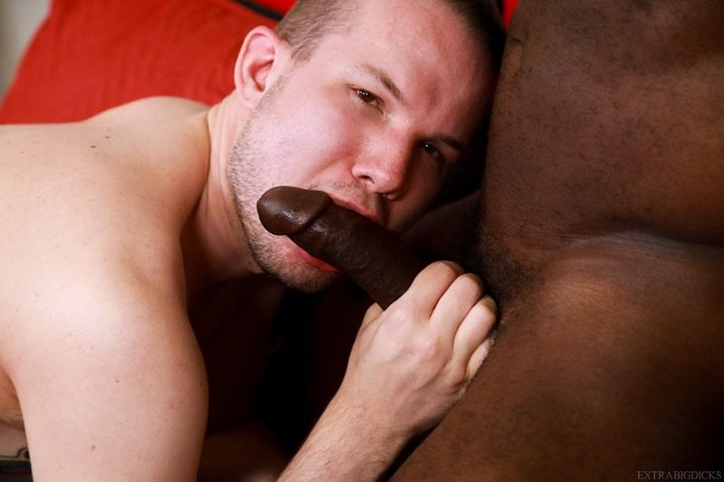 Black stud Aaron Trainer big cock fucks Devin Tyler white ass 005 gay porn pics - Black stud Aaron Trainer's big cock fucks Devin Tyler's white ass