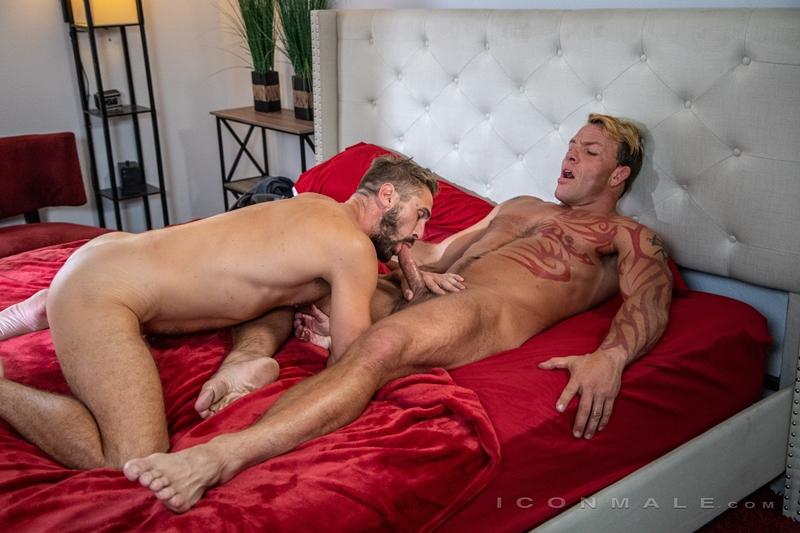 Wesley Woods sucks down balls deep Tristan Brazer big muscle dick 001 gay porn pics - Wesley Woods sucks down balls deep on Tristan Brazer's big muscle dick