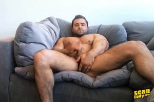 Hottie muscle dude Sean Cody Reese strips jerks out huge cum load 001 gay porn pics 300x200 - Sketchy Sex endless supply of loads seeding our asses
