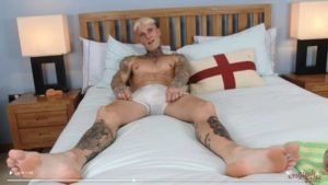 Hottie blonde straight tattooed hunk Harry Wills dildos tight asshole jerking big uncut cock 001 gay porn pics 300x169 - Hairy hunks Chandler Scott and Jack Winters hot big dick bareback ass fucking