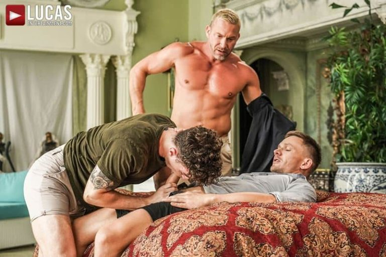 Older muscle dude Tomas Brand smooth hunk Andrey Vic spit roast young dude Robert Law hot holes 001 gay porn pics 768x512 - Older muscle dude Tomas Brand and smooth muscled hunk Andrey Vic spit roast young dude Robert Law's hot holes