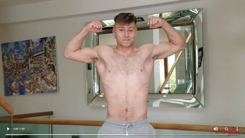Sexy straight boxer Joe Fitzpatrick strips naked jerking huge uncut dick explodes cum hairy chest 015 gay porn pics - Sexy straight boxer Joe Fitzpatrick strips naked jerking his huge uncut dick till he explodes cum all over his hairy chest