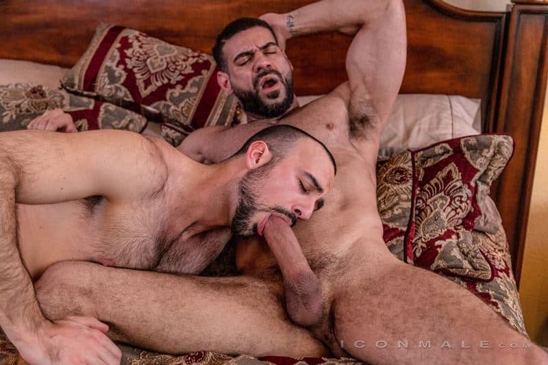 Hairy muscle dudes Mason Lear Ricky Larkin big thick dick anal fucking 019 gay porn pics - Hairy muscle dudes Mason Lear and Ricky Larkin big thick dick anal fucking