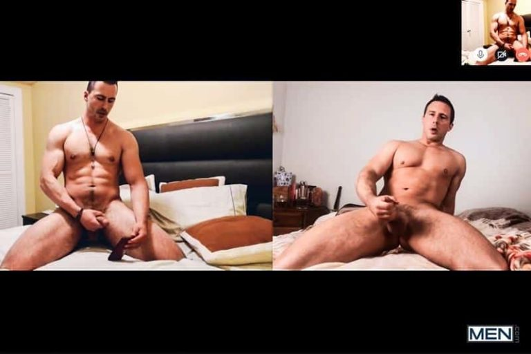 Reese Rideout coaches new gay porn star Joey Steel mutual big cock jerk off 001 gay porn pics 768x512 - Reese Rideout coaches new gay porn star Joey Steel mutual big cock jerk off