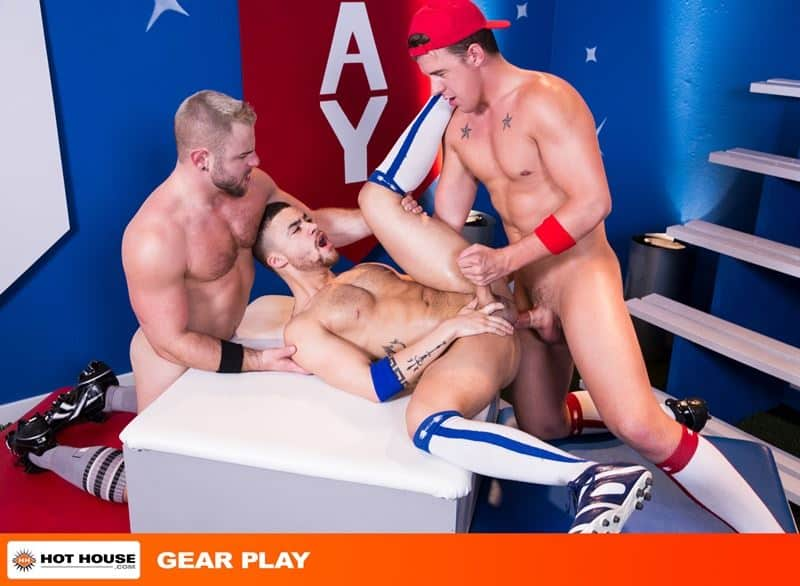 Baseball players Nick Sterling JJ Knight huge dicks fucking Beaux Banks tight bubble ass 013 gay porn pics - Baseball players Nick Sterling and JJ Knights' huge dicks fucking Beaux Banks' tight bubble ass