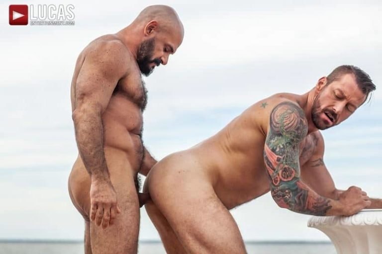 Big muscle stud Hugh Hunter hot daddy Gio Forte huge raw dick flip flop bareback ass fucking 001 gay porn pics 768x512 - Big muscle stud Hugh Hunter and hot daddy Gio Fortes' huge raw dick flip-flop bareback ass fucking