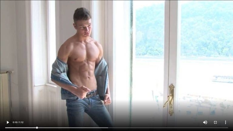 Sexy ripped young stud Parker Rowe strips naked jeans wanking huge uncut dick massive cumshot 001 gay porn pics 768x432 - Sexy ripped young stud Parker Rowe strips out of his jeans wanking his huge uncut dick to a massive cumshot