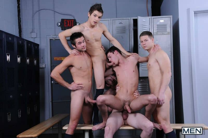 Baseball team lockeroom orgy Johnny Rapid Riley Banks Hunter Page Mike De Marko asses fucked coach Andrew Stark 008 gay porn pics - Baseball team lockeroom orgy Johnny Rapid, Riley Banks, Hunter Page and Mike De Marko's asses fucked by coach Andrew Stark