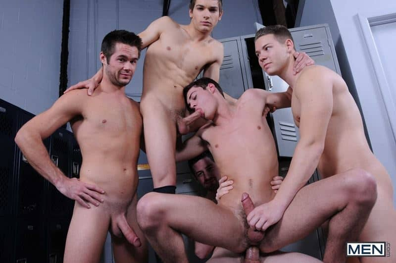 Baseball team lockeroom orgy Johnny Rapid Riley Banks Hunter Page Mike De Marko asses fucked coach Andrew Stark 009 gay porn pics - Baseball team lockeroom orgy Johnny Rapid, Riley Banks, Hunter Page and Mike De Marko's asses fucked by coach Andrew Stark