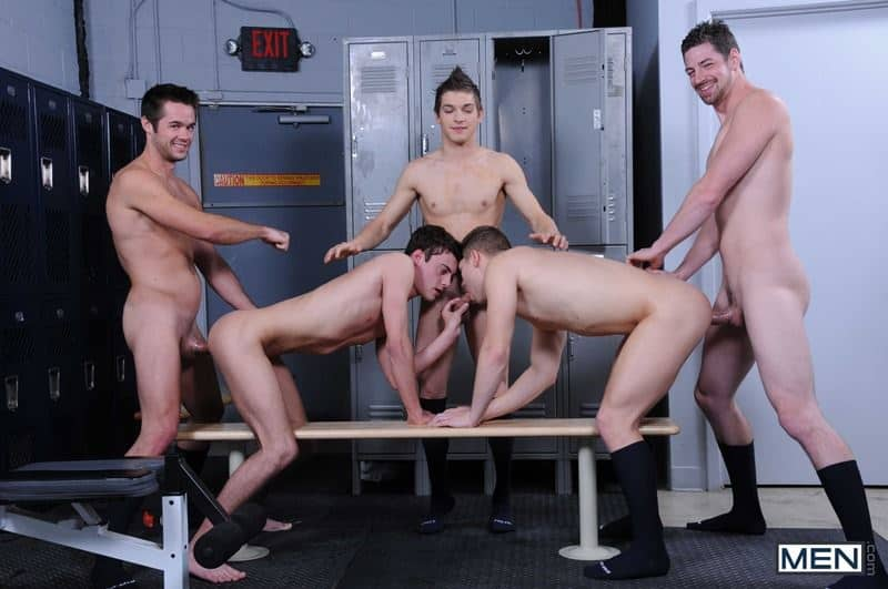 Baseball team lockeroom orgy Johnny Rapid Riley Banks Hunter Page Mike De Marko asses fucked coach Andrew Stark 013 gay porn pics - Baseball team lockeroom orgy Johnny Rapid, Riley Banks, Hunter Page and Mike De Marko's asses fucked by coach Andrew Stark