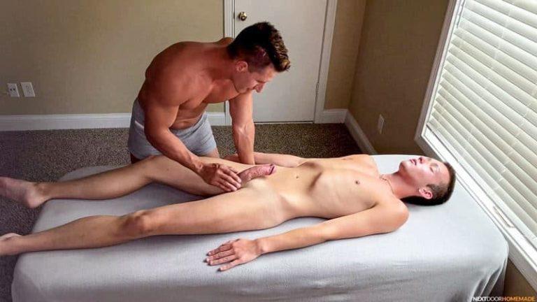 Hot older masseur stud Jax Thirio bareback fucks younger dude Ryan Evans hot hole 001 gay porn pics 768x432 - Hot older masseur stud Jax Thirio's bareback fucks younger dude Ryan Evans' hot hole