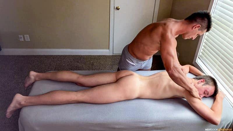 Hot older masseur stud Jax Thirio bareback fucks younger dude Ryan Evans hot hole 003 gay porn pics - Hot older masseur stud Jax Thirio's bareback fucks younger dude Ryan Evans' hot hole