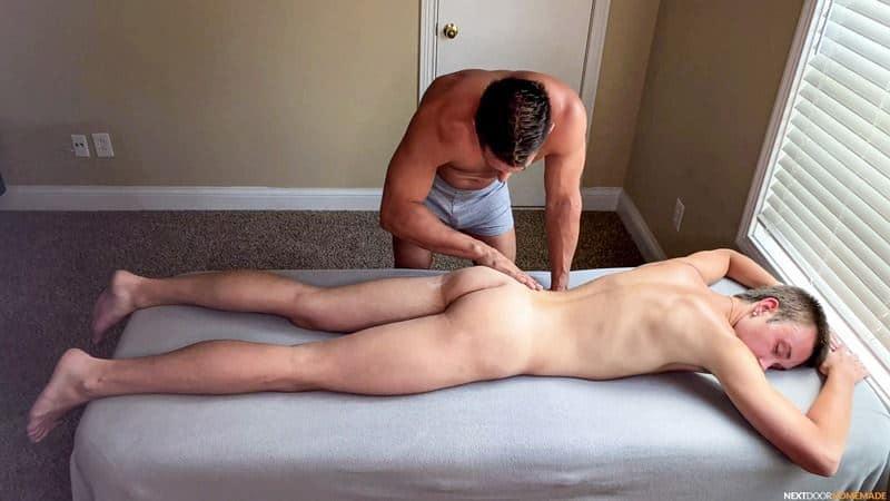 Hot older masseur stud Jax Thirio bareback fucks younger dude Ryan Evans hot hole 004 gay porn pics - Hot older masseur stud Jax Thirio's bareback fucks younger dude Ryan Evans' hot hole