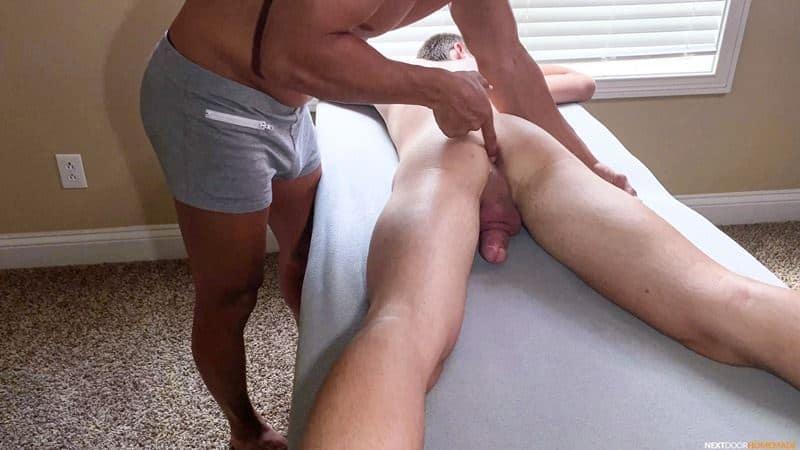 Hot older masseur stud Jax Thirio bareback fucks younger dude Ryan Evans hot hole 005 gay porn pics - Hot older masseur stud Jax Thirio's bareback fucks younger dude Ryan Evans' hot hole