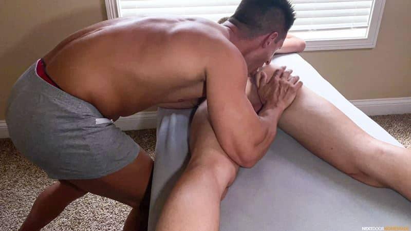 Hot older masseur stud Jax Thirio bareback fucks younger dude Ryan Evans hot hole 006 gay porn pics - Hot older masseur stud Jax Thirio's bareback fucks younger dude Ryan Evans' hot hole