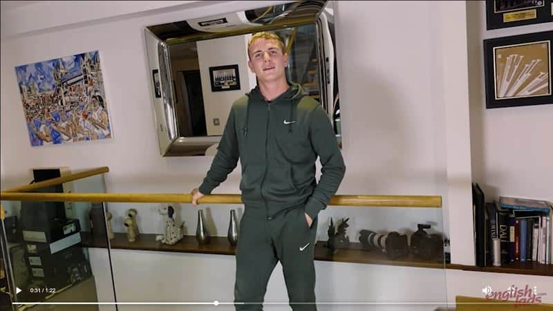 Ripped straight young British Ralph Collins strips track suit jerking huge uncut cock massive cum load 012 gay porn pics - Ripped straight young British Ralph Collins strips out of his track suit jerking his huge uncut cock to a massive cum load