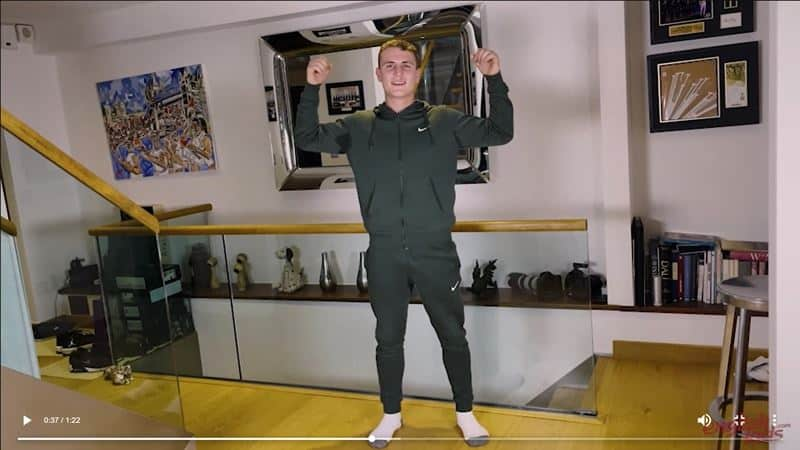 Ripped straight young British Ralph Collins strips track suit jerking huge uncut cock massive cum load 014 gay porn pics - Ripped straight young British Ralph Collins strips out of his track suit jerking his huge uncut cock to a massive cum load