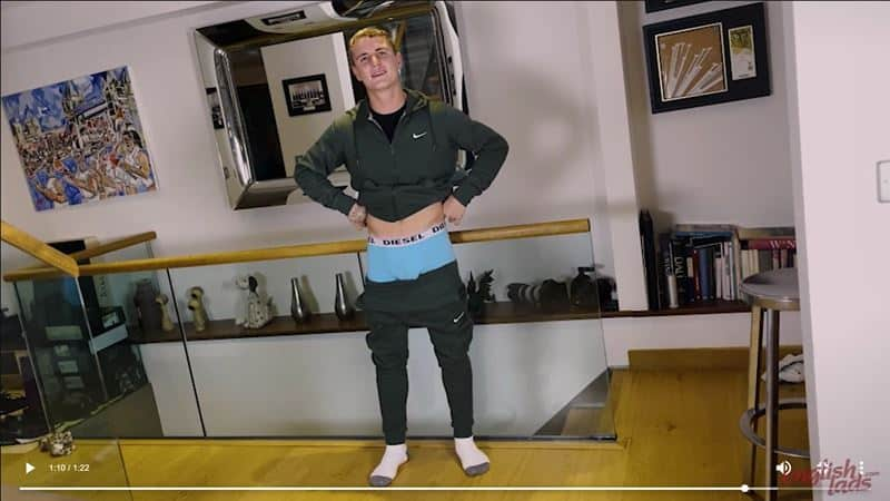 Ripped straight young British Ralph Collins strips track suit jerking huge uncut cock massive cum load 020 gay porn pics - Ripped straight young British Ralph Collins strips out of his track suit jerking his huge uncut cock to a massive cum load