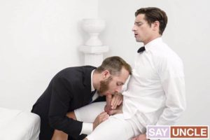 Young priest Alder Taylor Reign hot boy ass bare fucked President Lewis huge thick raw dick 001 gay porn pics 300x200 - Big muscle dudes Spencer Reed's huge dick fucks hairy hunk Tibor Wolfe's hot hole