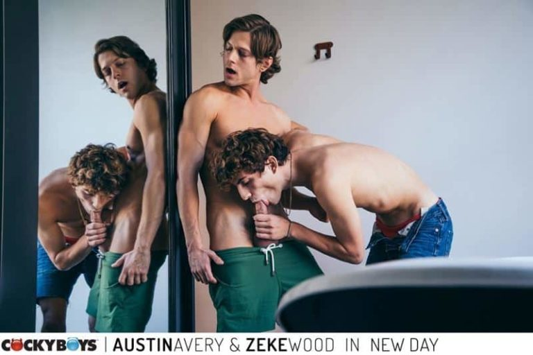New young curly haired stud Zeke Wood tight raw asshole bare fucked Austin Avery huge thick dick 001 gay porn pics 768x512 - New young curly haired stud Zeke Wood's tight raw asshole bare fucked by Austin Avery's huge thick dick
