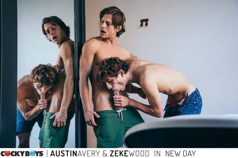 New young curly haired stud Zeke Wood tight raw asshole bare fucked Austin Avery huge thick dick 001 gay porn pics - New young curly haired stud Zeke Wood's tight raw asshole bare fucked by Austin Avery's huge thick dick