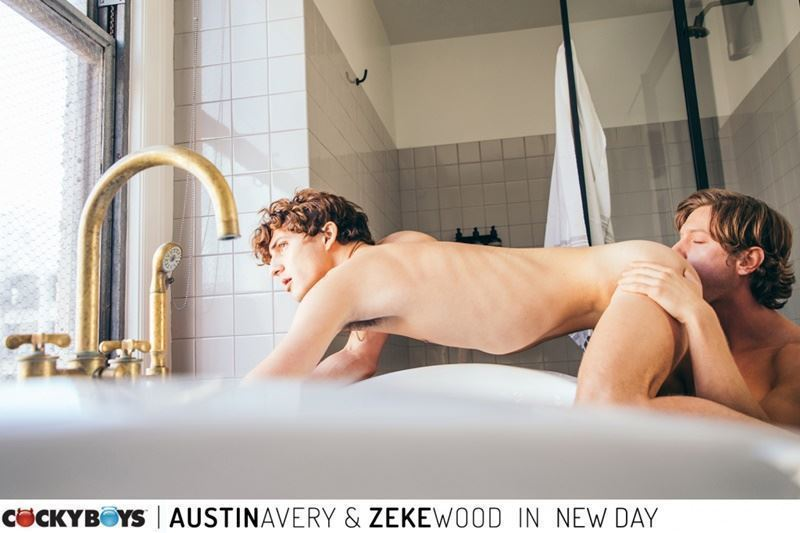 New young curly haired stud Zeke Wood tight raw asshole bare fucked Austin Avery huge thick dick 005 gay porn pics - New young curly haired stud Zeke Wood's tight raw asshole bare fucked by Austin Avery's huge thick dick