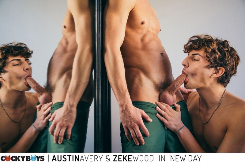 New young curly haired stud Zeke Wood tight raw asshole bare fucked Austin Avery huge thick dick 015 gay porn pics - New young curly haired stud Zeke Wood's tight raw asshole bare fucked by Austin Avery's huge thick dick
