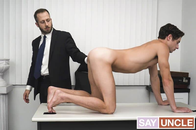 President Lewis's hot asshole bareback fucked by young Elder Taylor Reign's huge thick dick