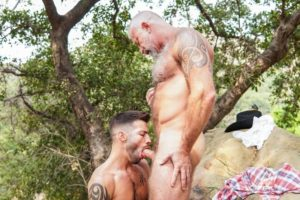 Young stud Casey Everett hot hole bareback fucked older Lance Charger huge raw dick 001 gay porn pics 300x200 - Young stud Casey Everett's hot hole bareback fucked by older Lance Charger's huge raw dick
