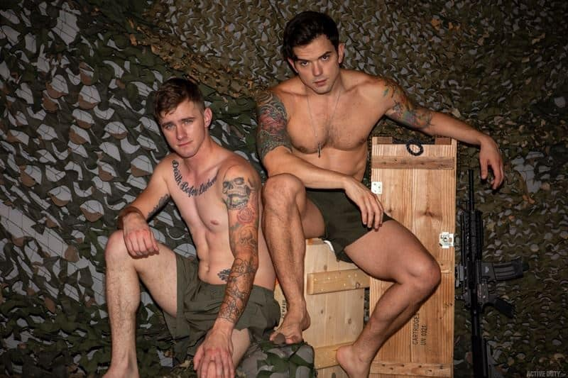Hot military recruits Ryan Jordan tattooed muscle Dacotah Payne bareback big thick dick anal fuckfest 001 gay porn pics - Hot military recruits Ryan Jordan and tattooed muscle Dakota Payne bareback big thick dick anal fuckfest