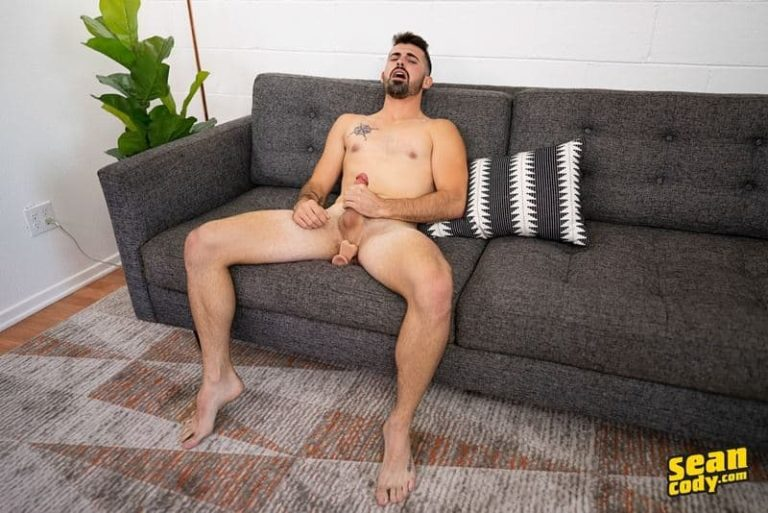 Sexy young hunk Sean Cody Dax huge crotch bulge strips naked shorts chunky thick cock 001 gay porn pics 768x513 - Sexy young hunk Sean Cody Dax had a huge crotch bulge as he strips off his shorts we see his chunky thick cock