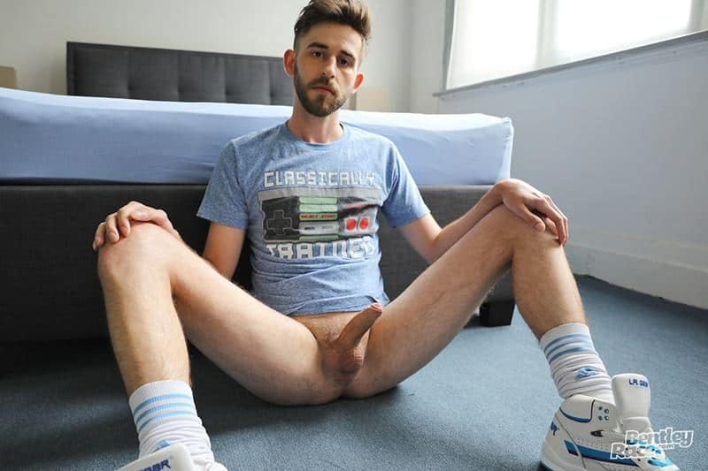 Hot cute young Aussie dude Eddie Archer jockstrap sneakers white socks stroking huge thick uncut dick 007 gay porn pics - Hot cute young Aussie dude Eddie Archer in just his jockstrap, sneakers and white socks stroking his huge thick uncut dick