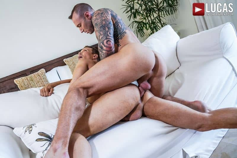 Sexy tattooed muscle hunk Dylan James huge 9 inch cock bare fucks muscled stud Ethan Chase hot hole 019 gay porn pics - Sexy tattooed muscle hunk Dylan James's huge 9.5 inch cock bare fucks muscled stud Ethan Chase's hot hole